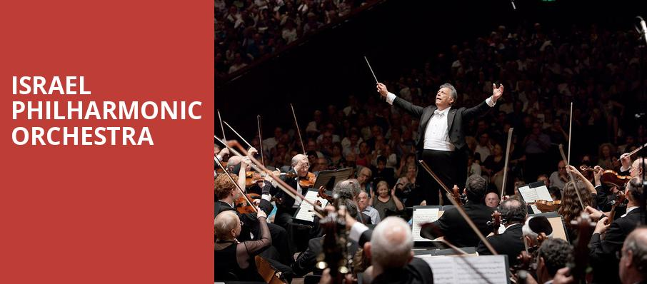 Israel Philharmonic Orchestra, Isaac Stern Auditorium, New York