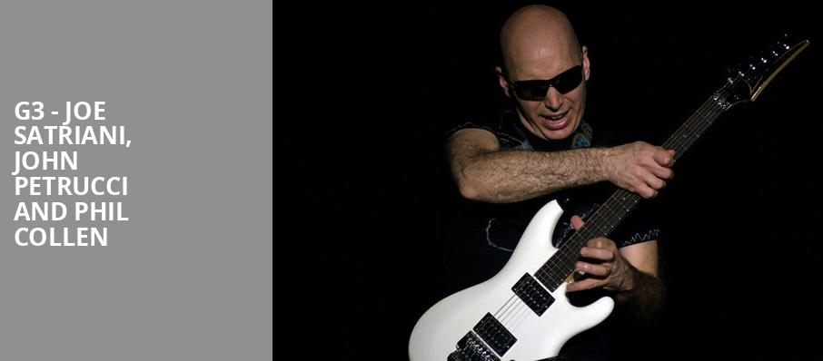 G3 Joe Satriani John Petrucci and Phil Collen, Prudential Hall, New York