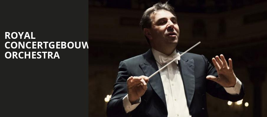 Royal Concertgebouw Orchestra, Isaac Stern Auditorium, New York