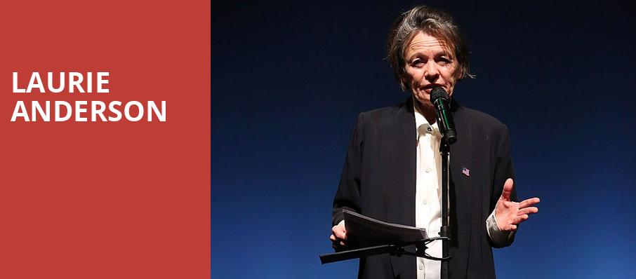 Laurie Anderson, Town Hall Theater, New York