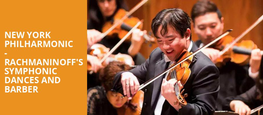 New York Philharmonic Rachmaninoffs Symphonic Dances and Barber, David Geffen Hall at Lincoln Center, New York