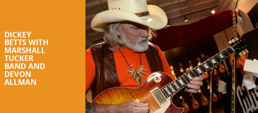 Dickey Betts with Marshall Tucker Band and Devon Allman, Beacon Theater, New York