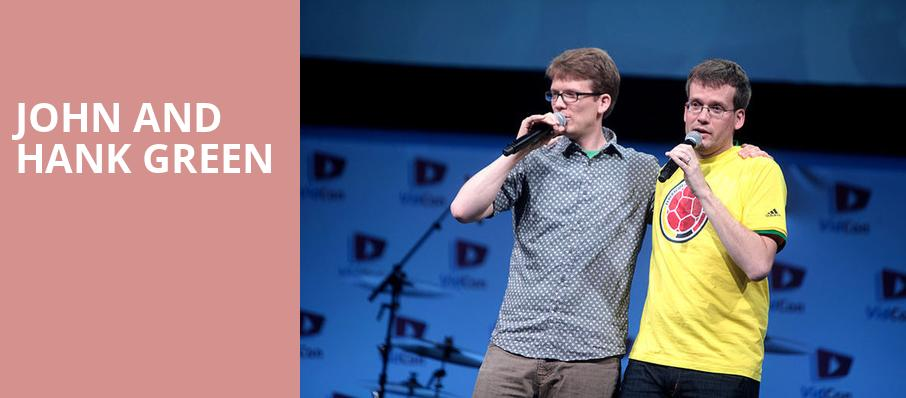 John and Hank Green, Town Hall Theater, New York