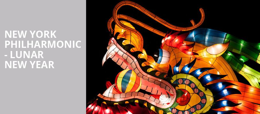 New York Philharmonic Lunar New Year, David Geffen Hall at Lincoln Center, New York
