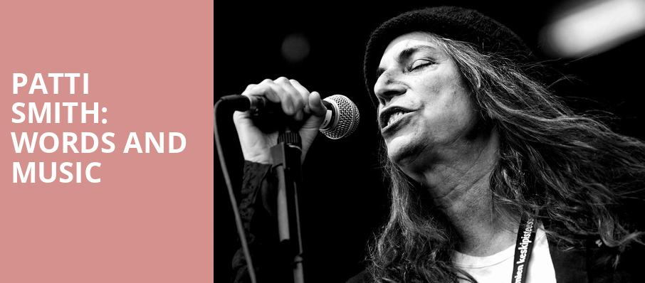 Patti Smith Words and Music, Minetta Lane Theater, New York