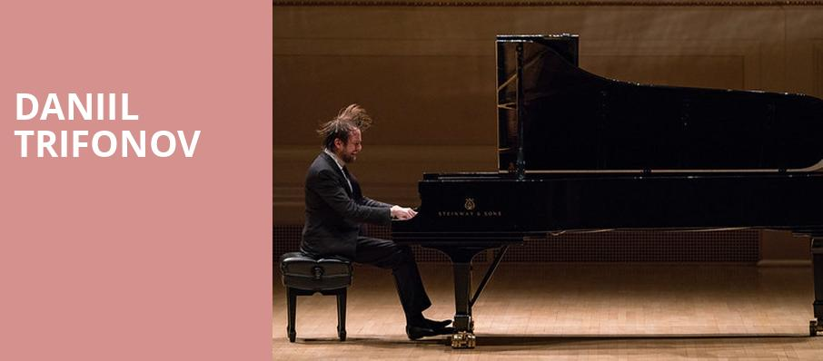 Daniil Trifonov, Alice Tully Hall, New York