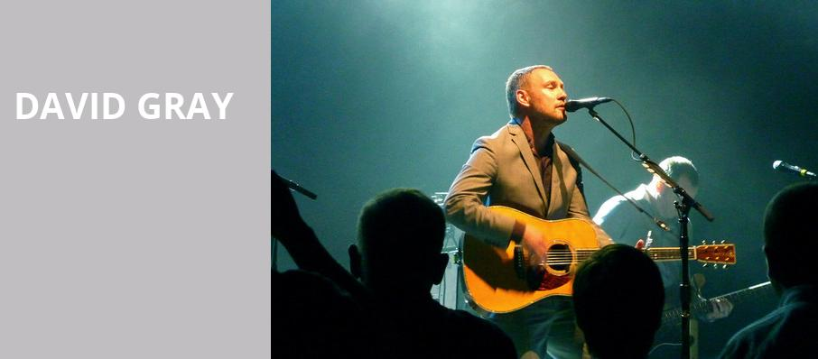 David Gray, Count Basie Theatre, New York