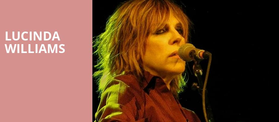 Lucinda Williams, Mccarter Theatre Center, New York