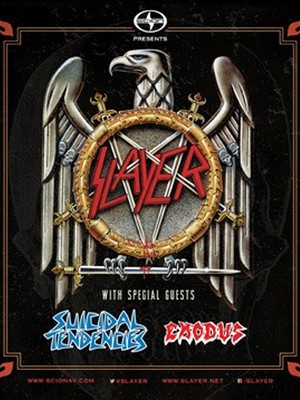 Slayer Suicidal Tendencies & Exodus at Wellmont Theatre
