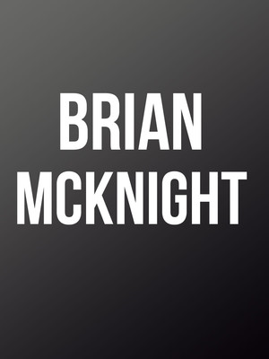 Brian McKnight at Bergen Performing Arts Center
