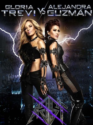 Gloria Trevi and Alejandra Guzman at Madison Square Garden