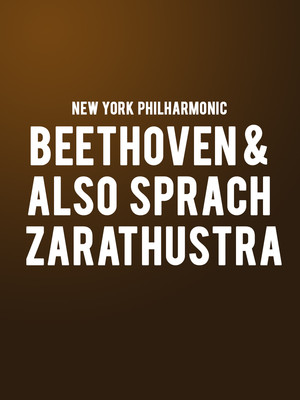 New York Philharmonic - Beethoven and Also sprach Zarathustra at David Geffen Hall at Lincoln Center