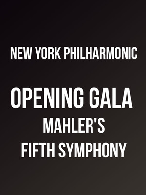 New York Philharmonic - Opening Gala Mahler's Fifth Symphony at David Geffen Hall at Lincoln Center